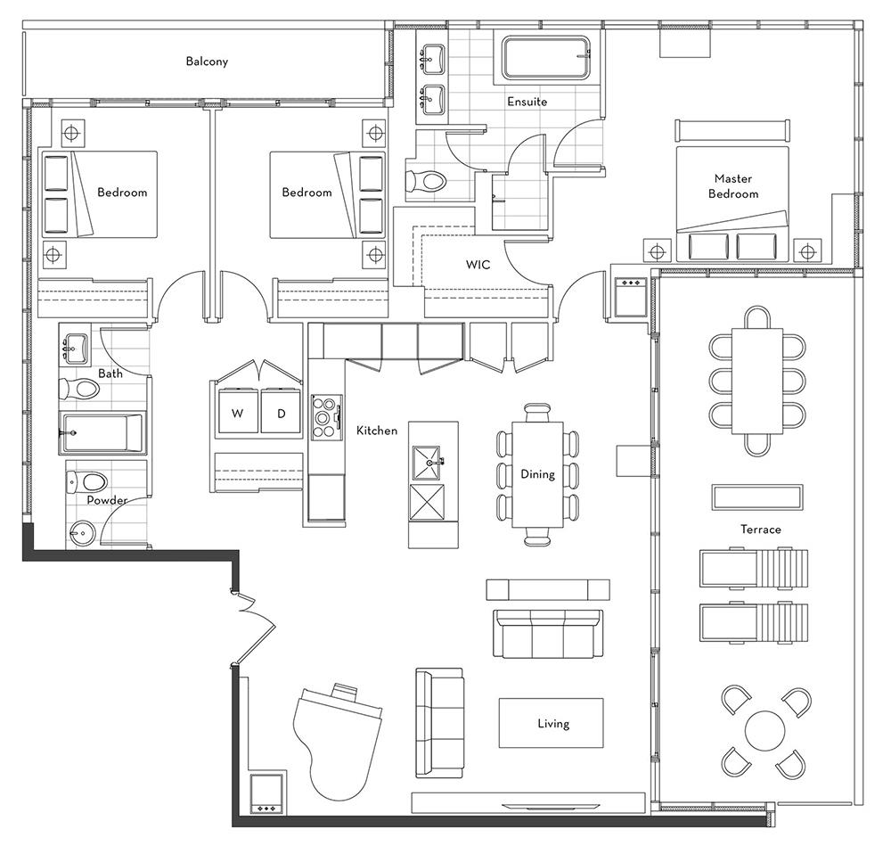 The Penthouse Collection - 01 Floorplan 1
