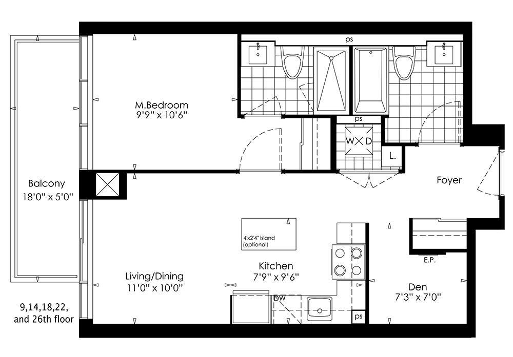 1A+D Floorplan 1
