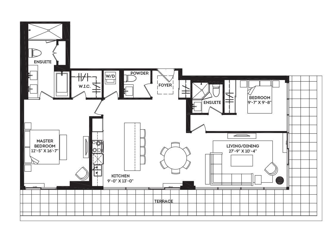 The Delancey Terrace Floorplan 1