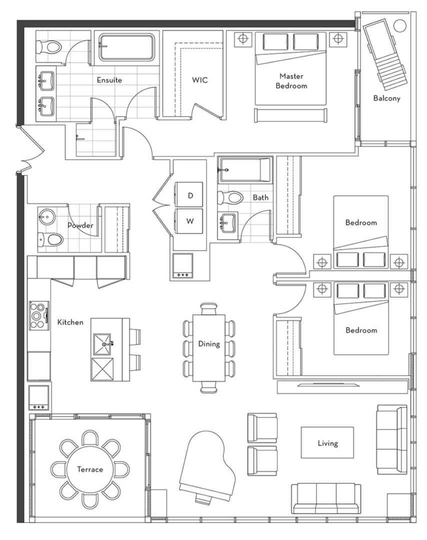 The Penthouse Collection - 02 Floorplan 1