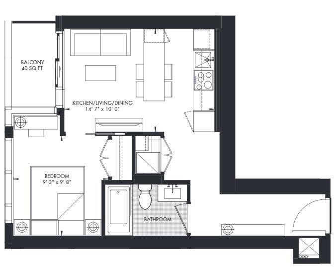 Yorkville 13 Floorplan 1