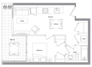 Lower Typical (West Tower) 12 Floorplan 1