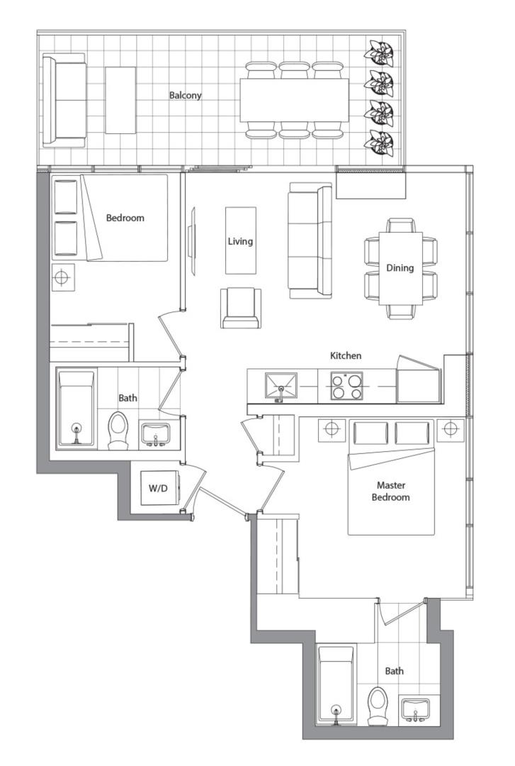Lower Typical (West Tower) 05 Floorplan 1