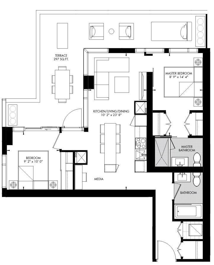 Yorkville 61 Floorplan 1