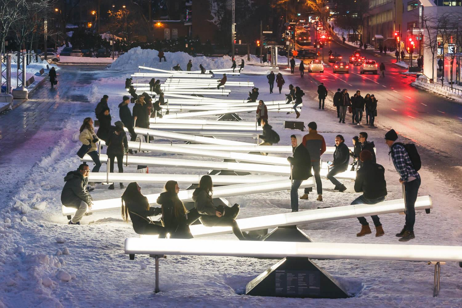 Light up, music making seesaws coming to Toronto Image
