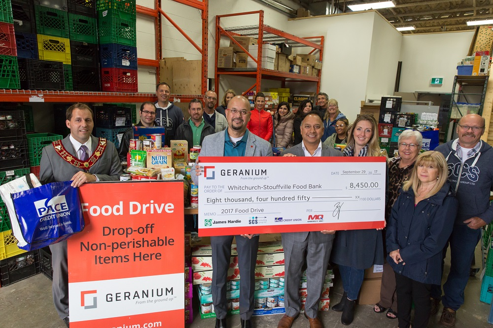 Geranium makes annual donation to the Stouffville Food Bank Image
