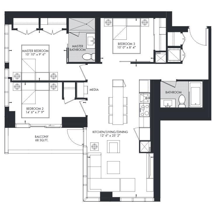 Yorkville 42 Floorplan 1