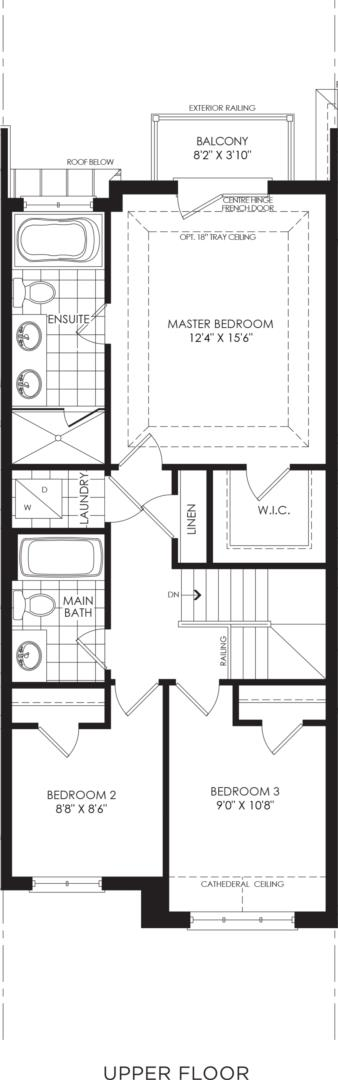 BLOCK 18, ELEV. B1 REV, UNIT 3 Floorplan 3