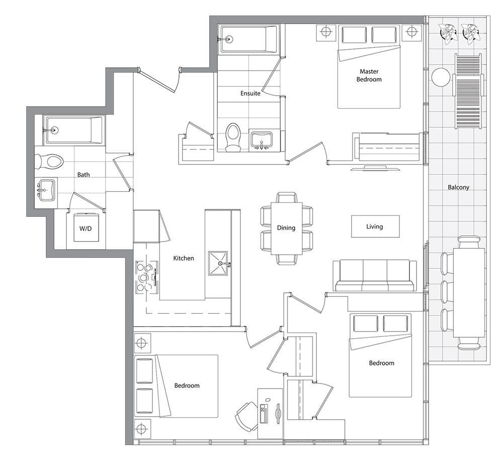 Lower Typical (East Tower) 05 Floorplan 1