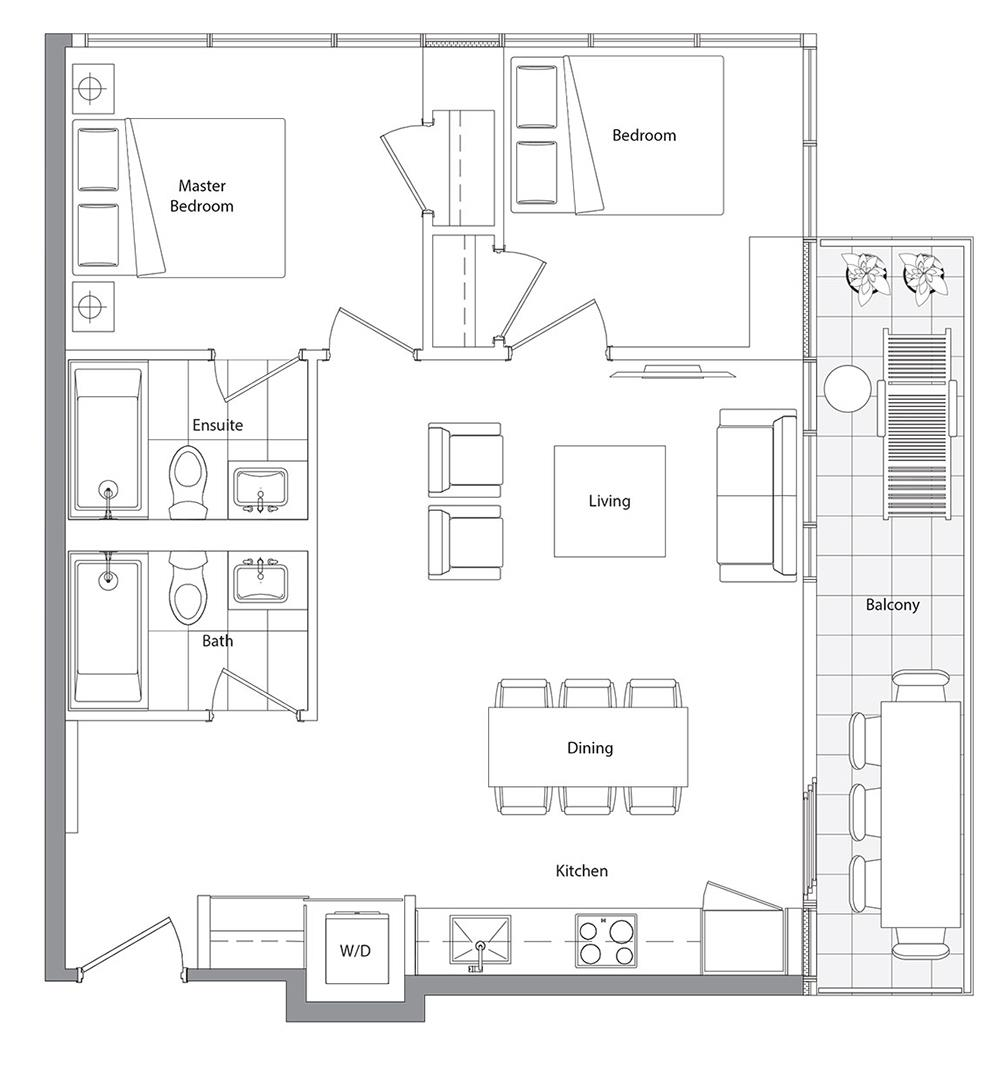 Lower Typical (East Tower) 03 Floorplan 1