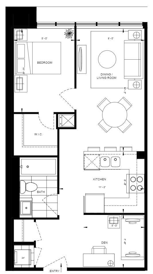 1BD-B Floorplan 1