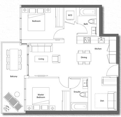 Upper House Suite 06 Floorplan 1