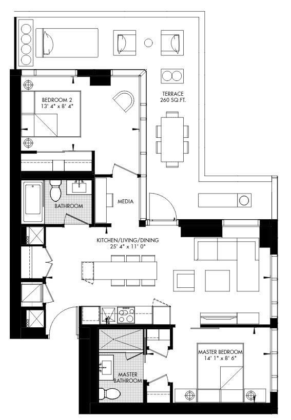 Yorkville 62 Floorplan 1