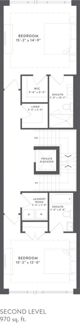 Townhome Collection C Floorplan 3