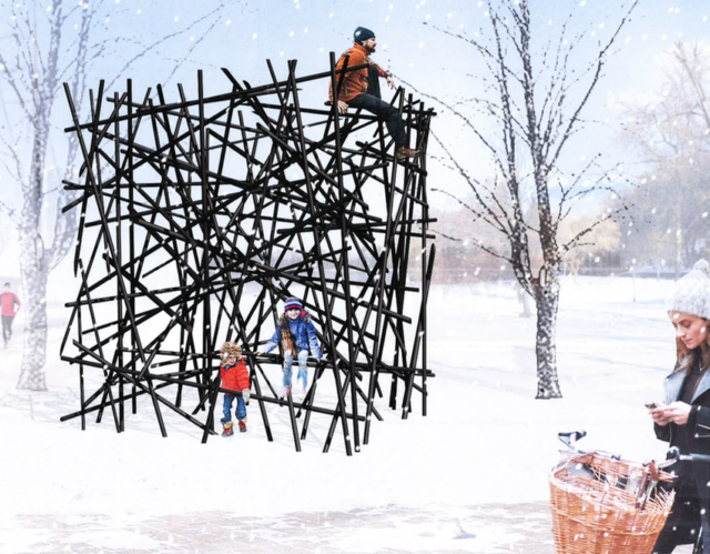 'Black Bamboo' by Bennet Marburger and Ji Zhang of 2408 Studio (Hangzhou Shi, China) for Ice Breakers for 2018