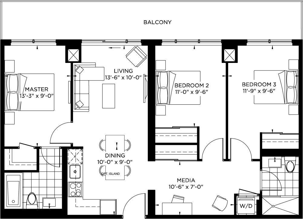 Tower Collection - Monroe Floorplan 1