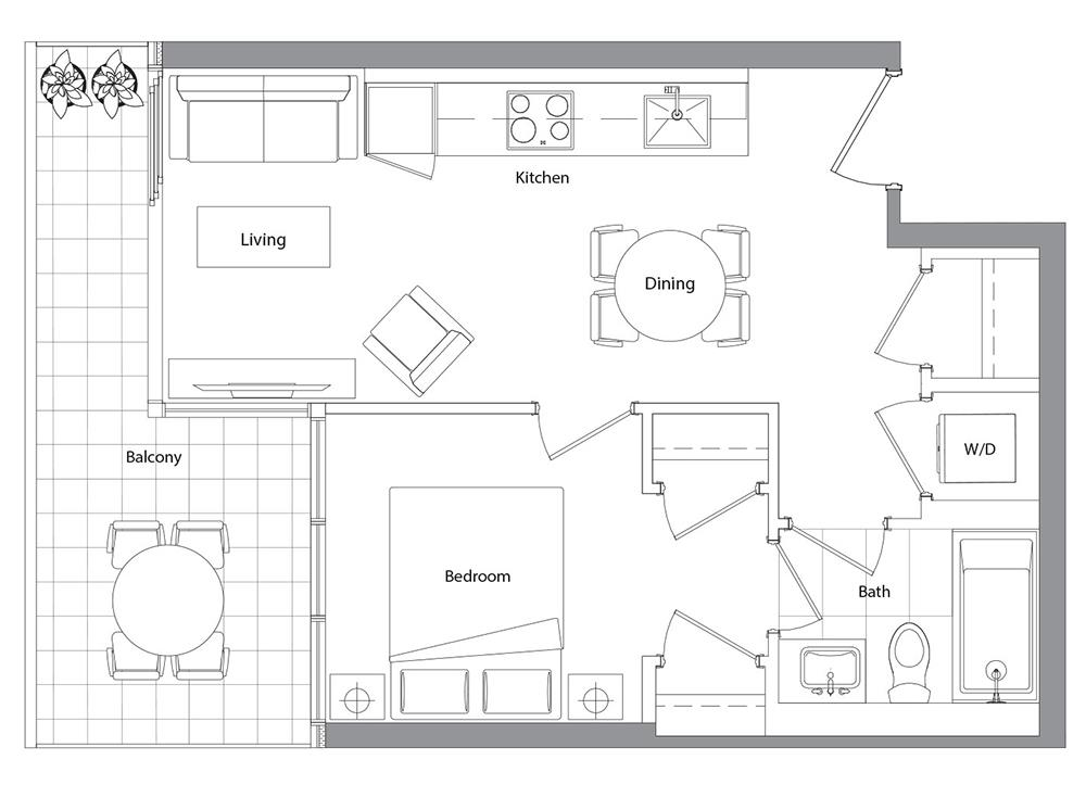 Lower Typical (West Tower) 01  Floorplan 1