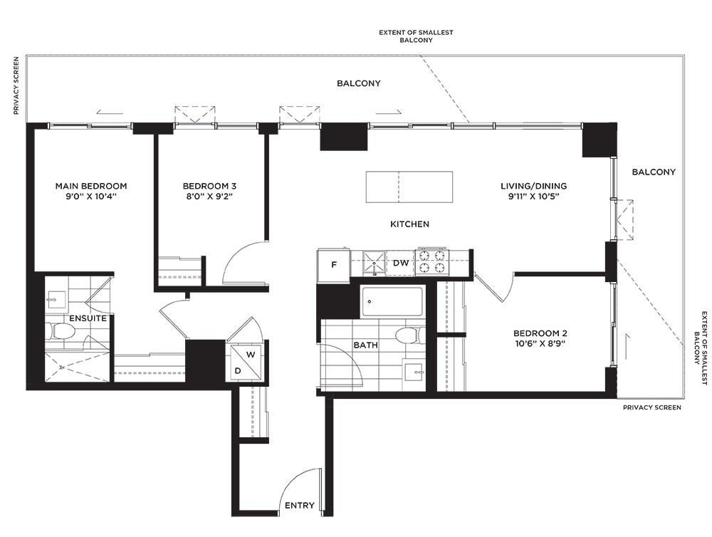The Cashmere Floorplan 1