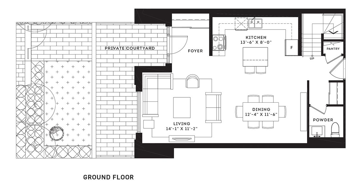 The Town Home Floorplan 1