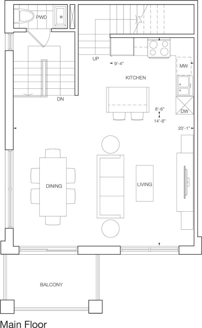 Logan Square Floorplan 1