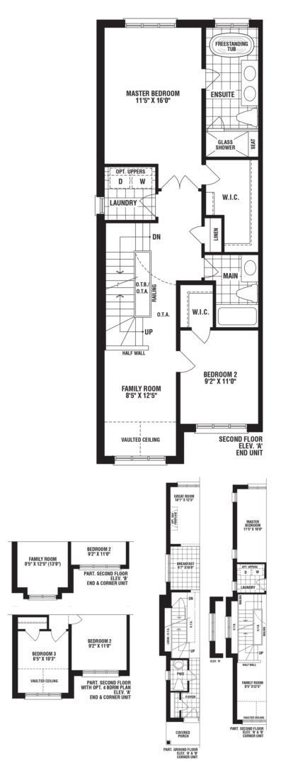 Turquoise End Unit Floorplan 2