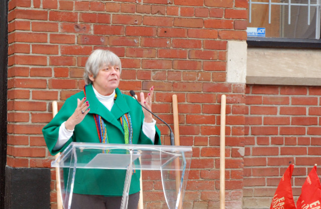Deputy Mayor Pam McConnell at the East United groundbreaking
