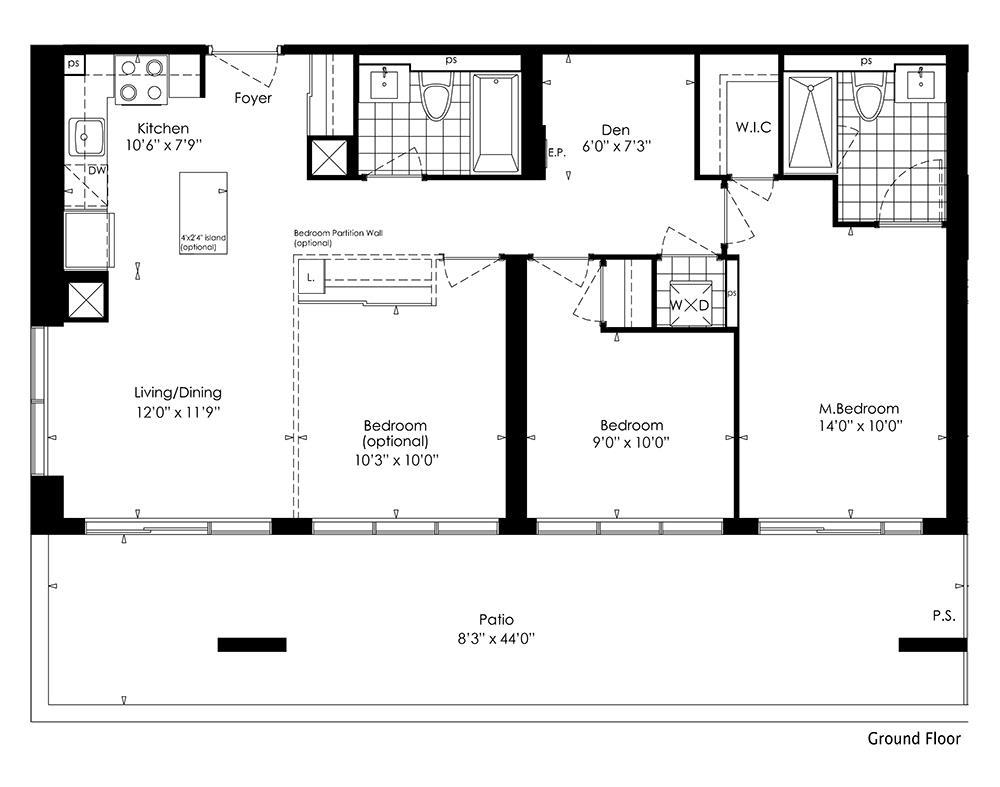 3A+D Floorplan 1