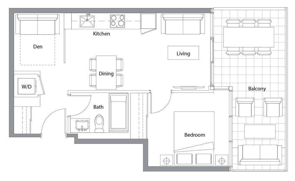 West Tower 01 Floorplan 1