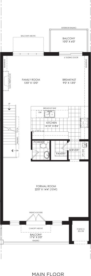 BLOCK 15, ELEV. A1, UNIT 3 Floorplan 3