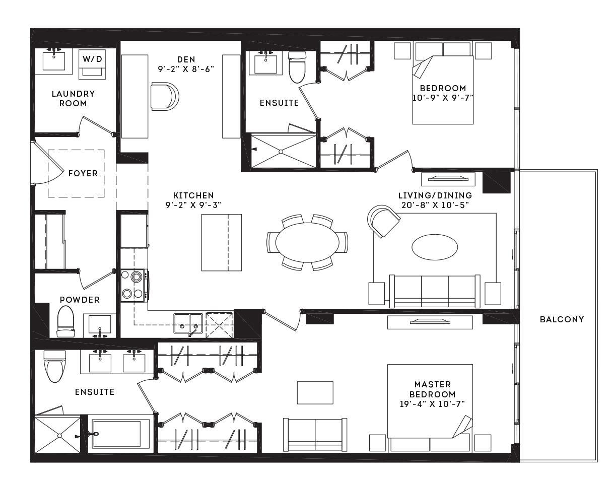 The Fulton Floorplan 1