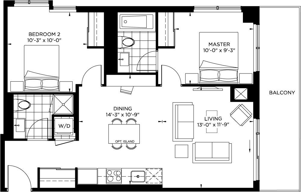 Tower Collection - Streisand Floorplan 1