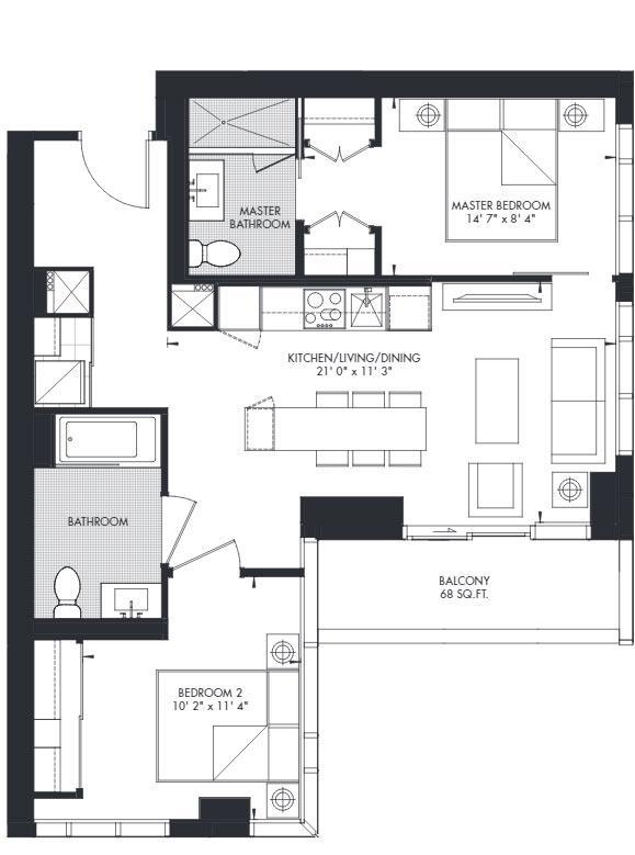 Yorkville 33 Floorplan 1