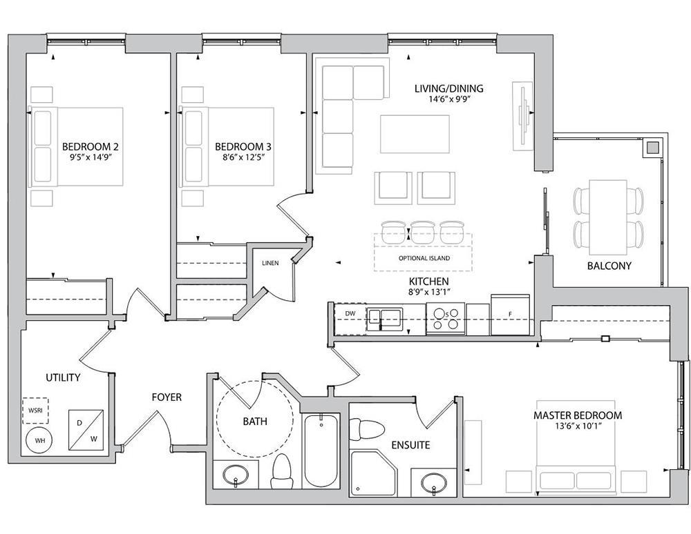 The Aston Floorplan 1