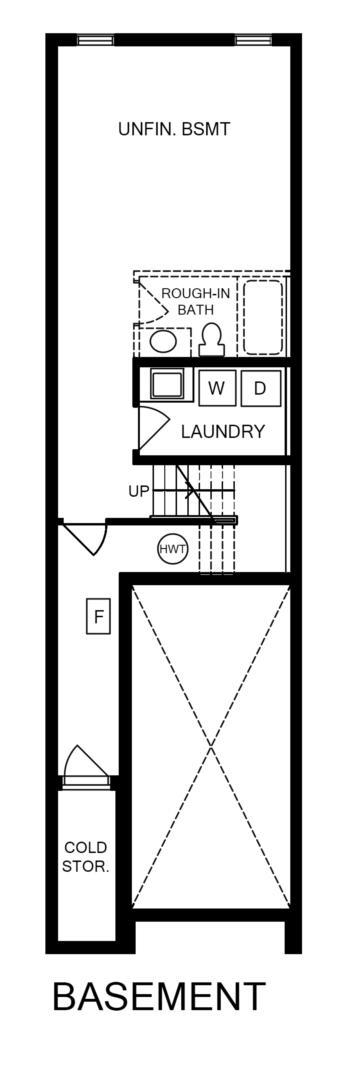 End Unit 2 Bedroom Floorplan 3