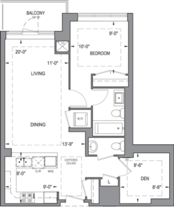 Building B - Typical Suites - 1D+D