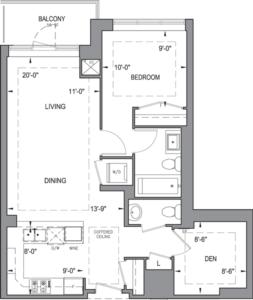 Building B - Typical Suites - 1D+D