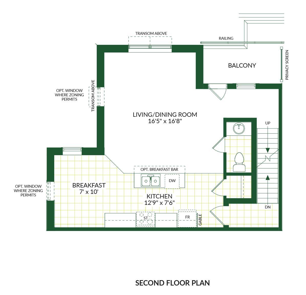 The Lincoln B, Building G Floorplan 2