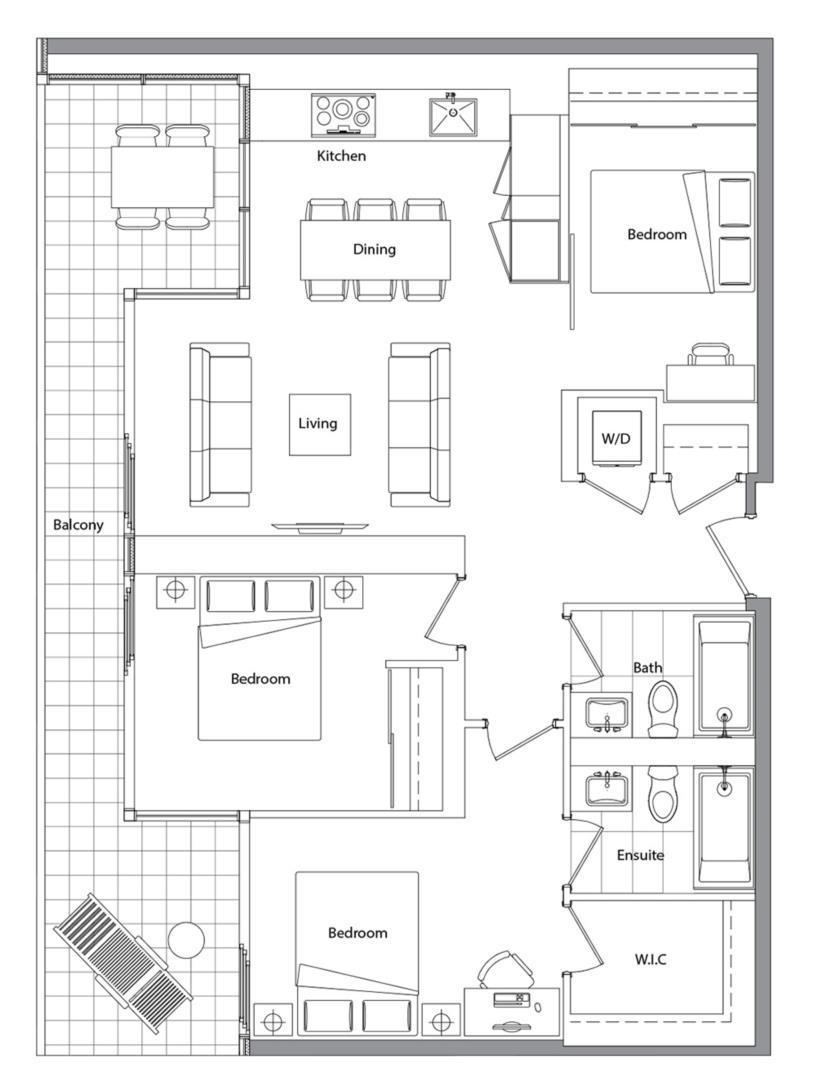Upper (West Tower) 01 Floorplan 1