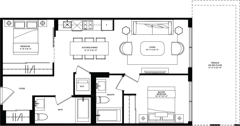 Melbourne II Floorplan 1