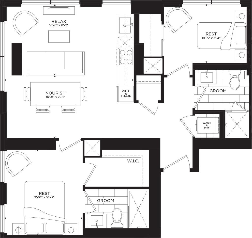 Queen Floorplan 1