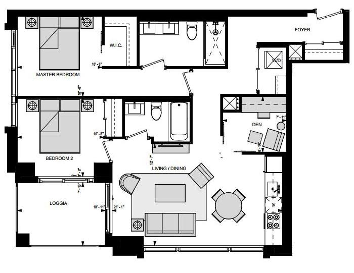 Suite LW Floorplan 1