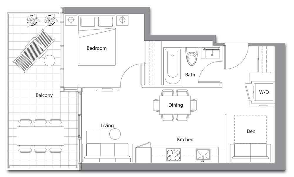 East Tower 08 Floorplan 1