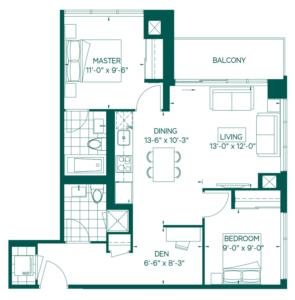 Tower Collection - Elias Floorplan 1