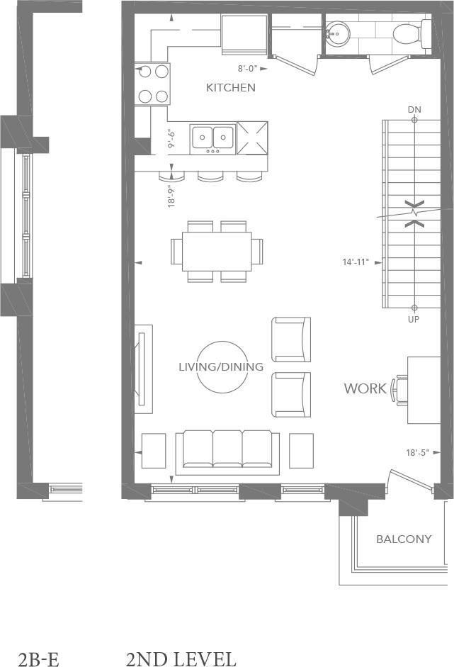 2B   2B-E Floorplan 2