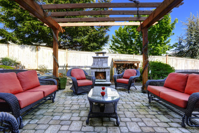 Trade in grass for patio