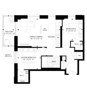 2B-A Floorplan 1