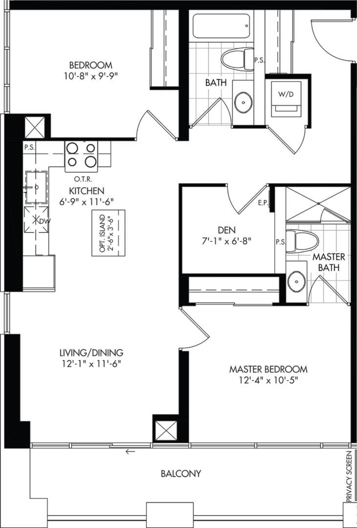 2D-B1 Floorplan 1