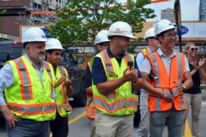 Mattamy and Biddington celebrate construction at J. Davis House, courtesy DeWalt and Corus Radio Image