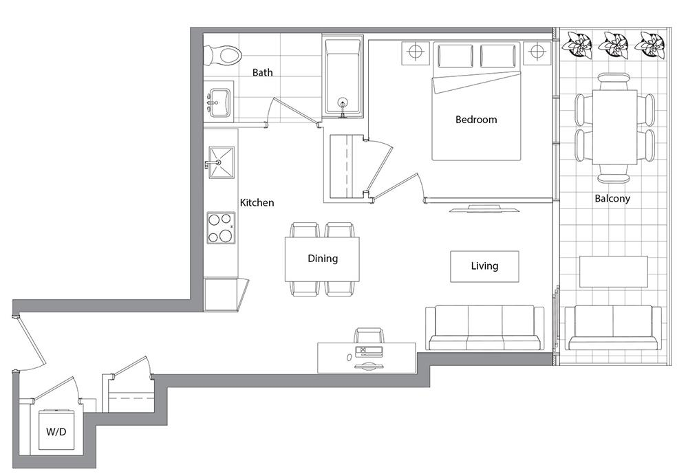Lower Typical (West Tower) 08 Floorplan 1