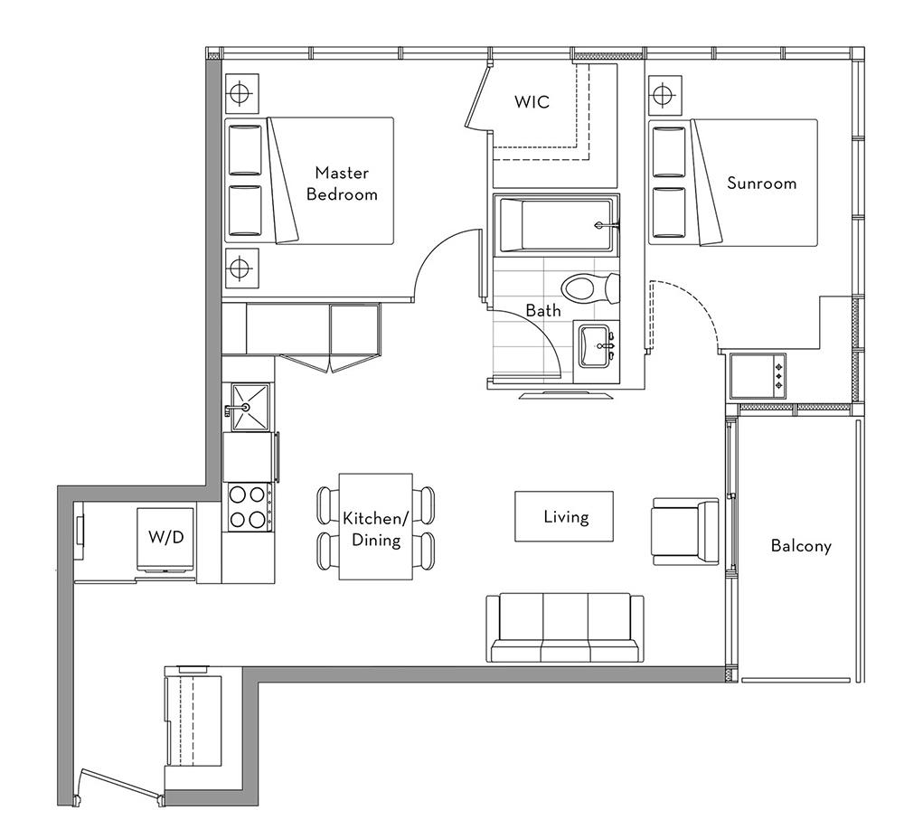 The Lakefront Collection - 010 Floorplan 1